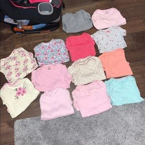 Baby girl long sleeve onesies